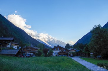 Camping views in Argentiere