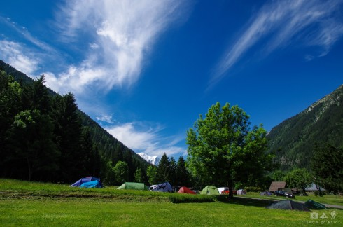 Camping fellows in Argentiere