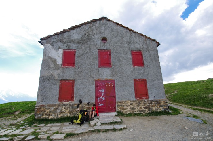 The hut in col de Balme (2204m)