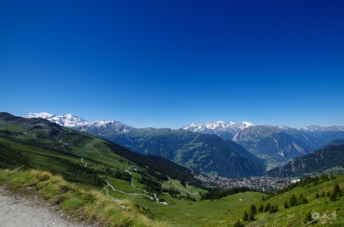 View to Verbier and crazy biking trails
