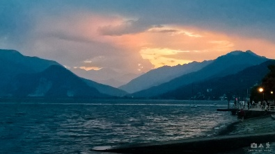 Beautiful sunset in Verbania (Italy)