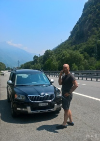 Our broken down Skoda…