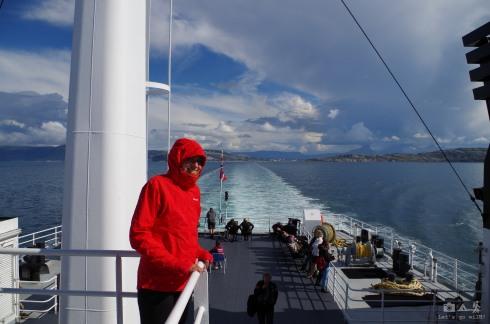 Windy ferry to Moskenes, Lofoten