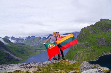 Portugal and Lithuania on the top of Lofoten